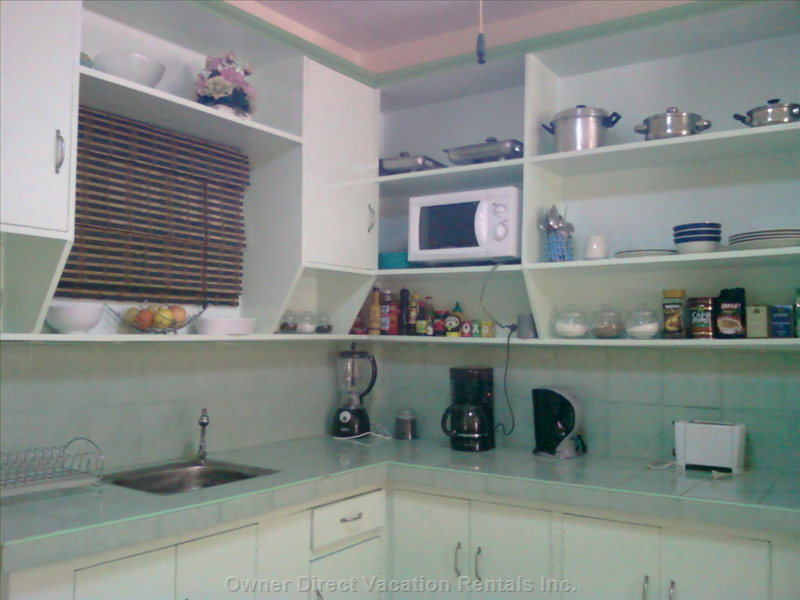 Kitchen - Complete with everything except a Cook and Even that Can be Provided!