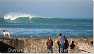 Guethary and its Huge Waves for Surfing