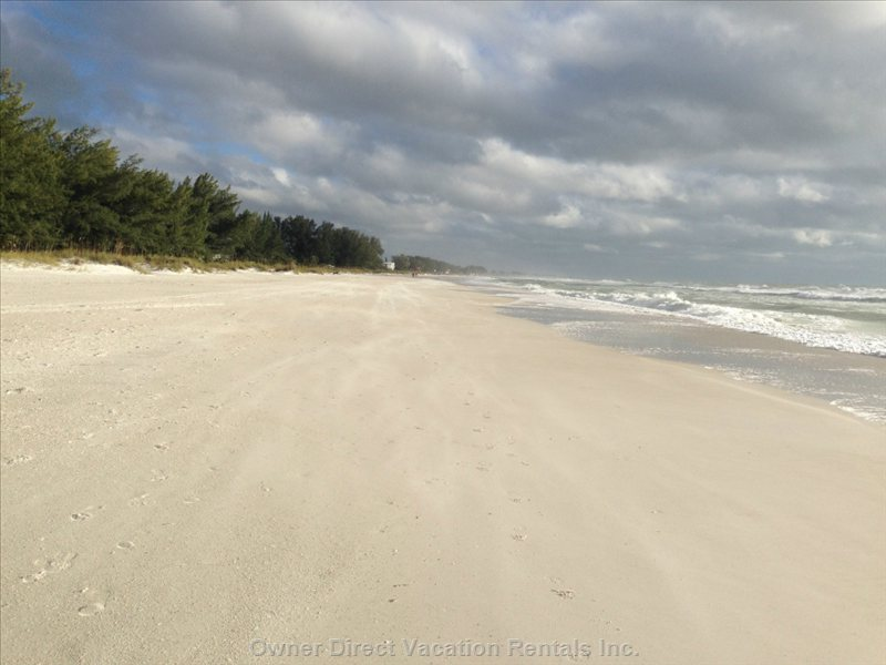 Enjoy the Famous White Sands of Anna Maria…..