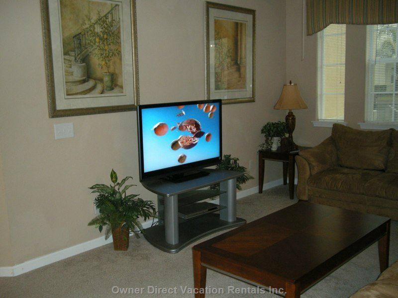 48 Inch Lcd Hd TV with Full Digital Cable. Movies and Music.