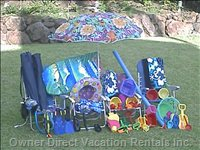 Look at all the Beach Equipment that Comes with this Condo Unit!
