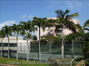 Condo Complex has Tennis Court, So Bring your Racquets!