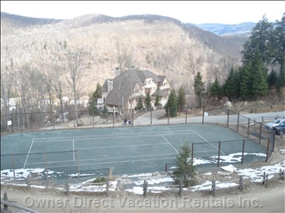Tennis Court View from Deck