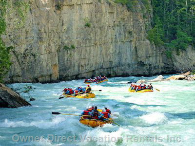 White-Water Rafting  on the Kicking-Horse River
