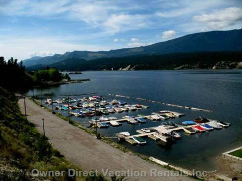 Boat Slips are Available for Moorage at the Marina at Akiskinook Resort