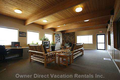 Relax in the Guests Entertainment Room in Rec Centre!
