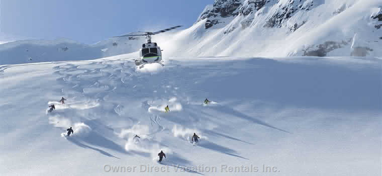 Heli-skiing in Bugaboos