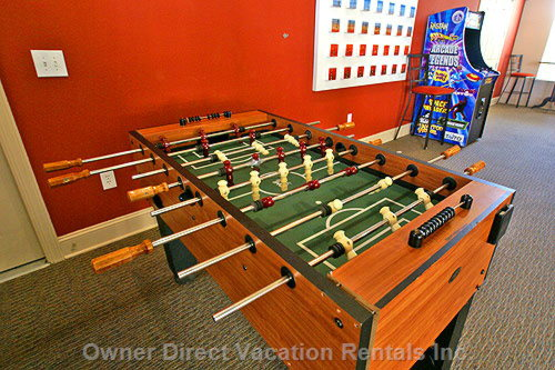 Bring your Children to Play a Game of Foosball in the Club House