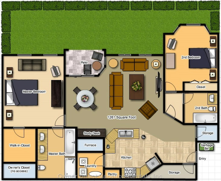 Floor Plan of our Condo is Large Enough for a Family of Six