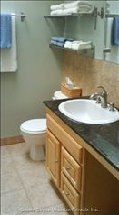 Main Bathroom with Granite Counter Top
