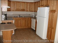 Open Kitchen Area - Kitchen is Fully Stocked with all Amenities you'Ll Need