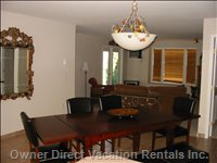 Dining / Living Area - Large Dining / Living Area with View Overlooking the Lake