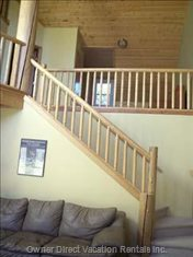 Stairs to Den, Loft, 2nd Bathroom and Additional Bedroom