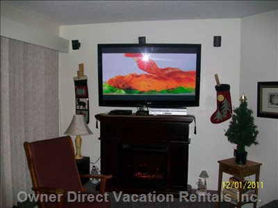 50 Inch Lg TV  with Pvr,DVD, and VCR on Bell Satellite Signal