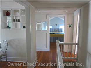 Upon Entering Apartment- your View.  Full Eat-in Kitchen Left, Bathroom Also Left, Bedroom Straight Ahead & Living Room Right.