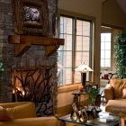 Enjoy the Fire in a Luxurious Yet Casual Living Room