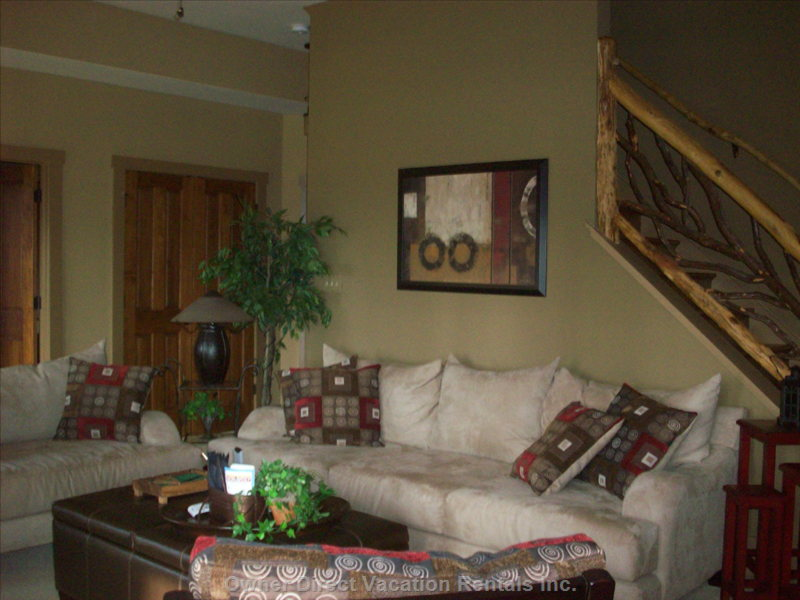 Come Enjoy the Fireplace in the Lower Level Family Room