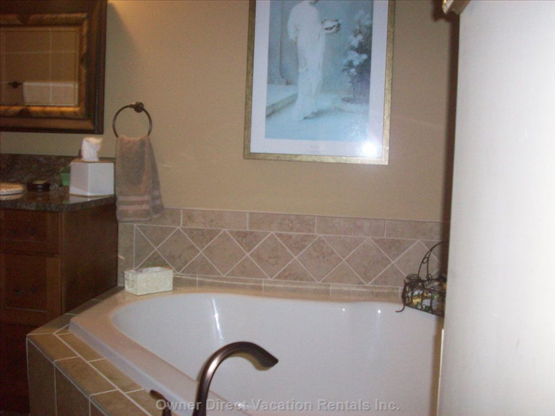 Lower Level Bathroom with Oversize Tub