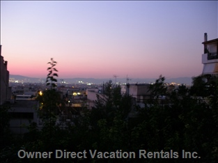 Amazing Skyline Views of Athens, the Beach and the Acropolis, Gazing from your Balcony.