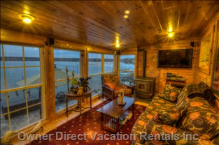 Watch Incredible Sunsets, Bird Migrations, you Name it Right from the Coziness of the Family Room