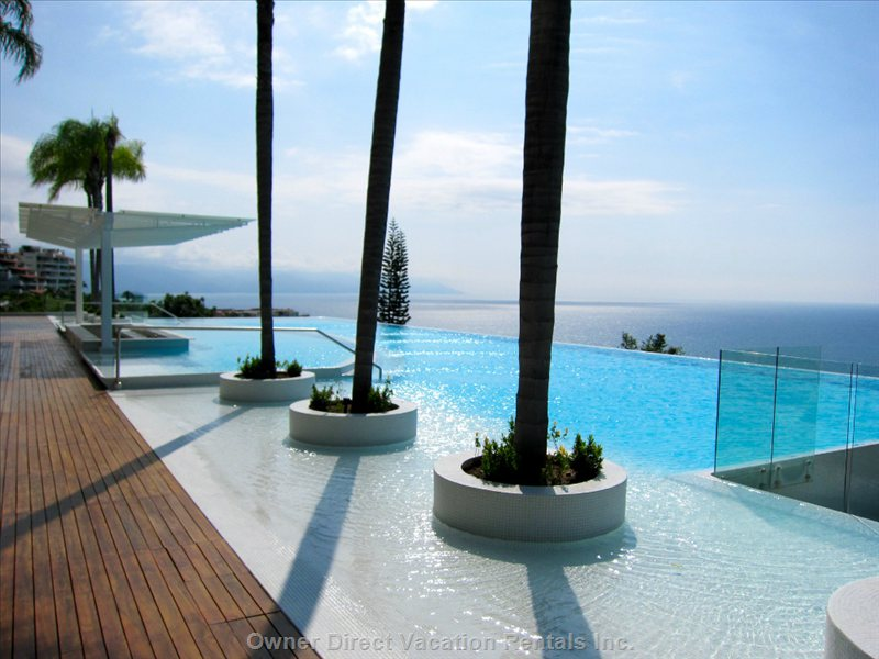Dramatic Scale Punctuates the 40 Metre Long Infinity Pool. Enjoy Refreshing Waves While Taking in the Spectacular Views of the Bay