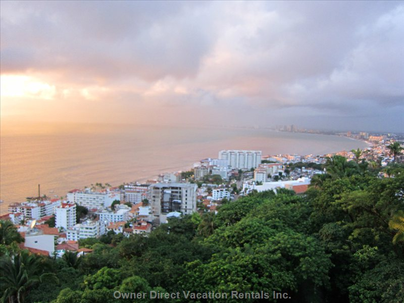 From the Avalon Terrace, Every Day Provides Spectacular Views of the Bay, Town and Jungle Hillside.