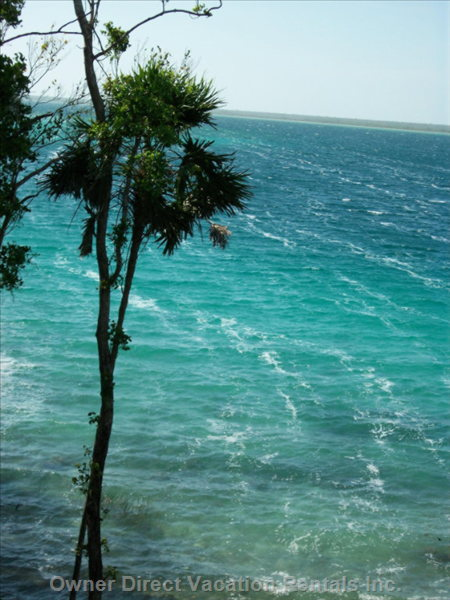 The Cove - the Casita Looks down into a Secluded Cove on Laguna Bacalar