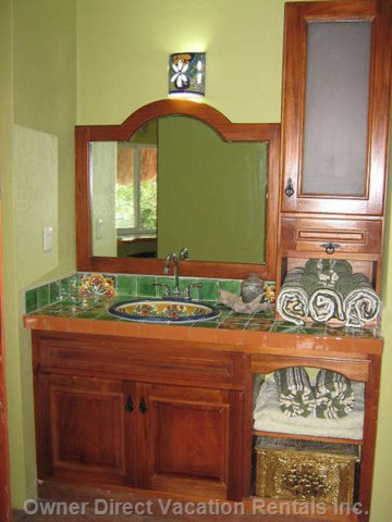 The Lavatory Sink and Cabinets