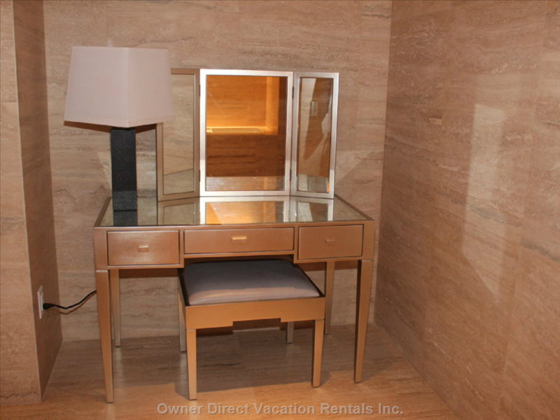 Beauty Desk Located in the Large Master Bath