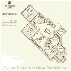 Floor Plan of the Residence. 1,478 Square Feet of Living Space. Total 1,933 Sq Feet with the Balcony