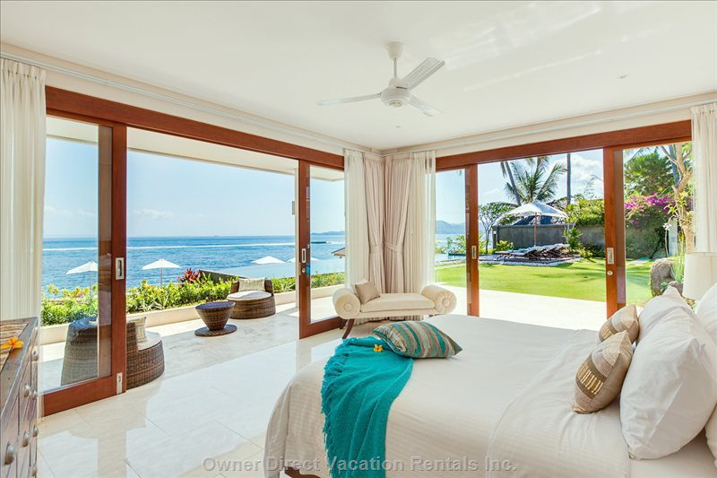 Master Bedroom with Open Ocean View
