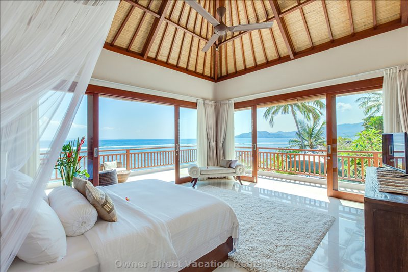 First Bedroom on the Ground Floor with View to the Ocean