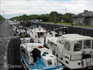 Victoria Lock - Boats in the Lock Await the Opening of the Gates to Travel to Portumna