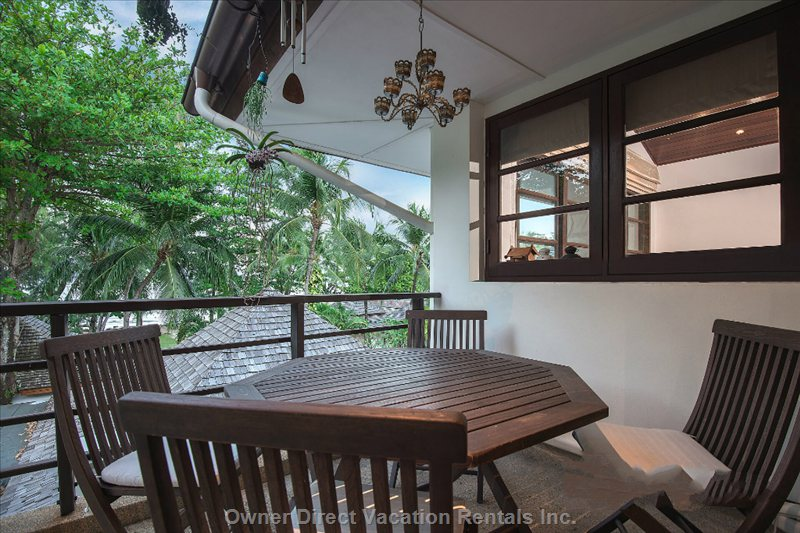 Balcony with Teak Dining Table