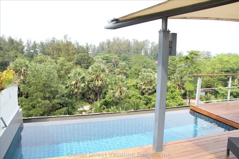 Private Roof Top Pool - Plunge into your Private Pool after a Hard Day by the Beach, Relax by the Infinity Edge and Watch the Sunset through the Beautiful Casuarina Trees