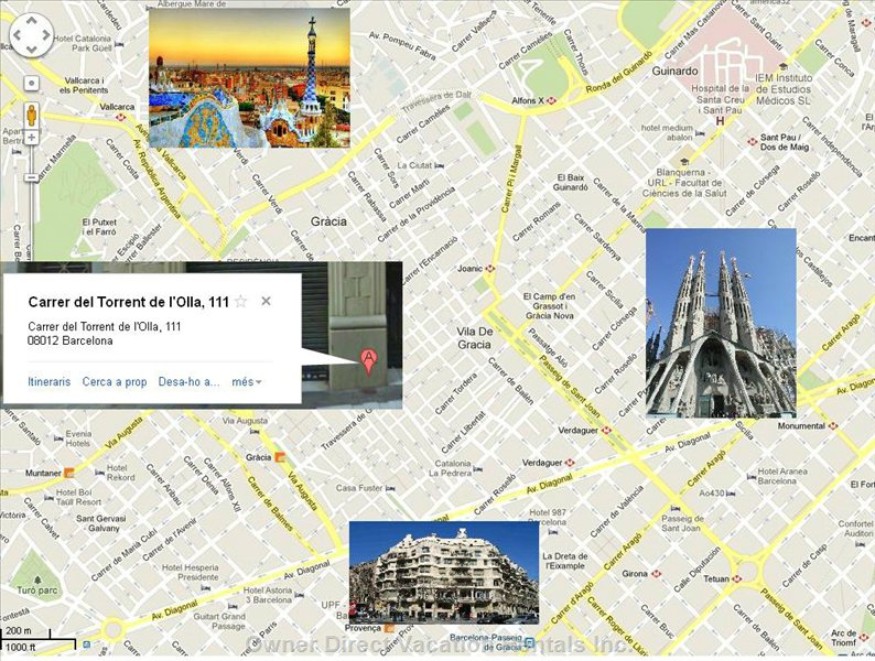 The Apartment is in the Middle of Famous Architect Gaudi Triangle, at Walking Distance of Sagrada Familia, LA Pedrera and Park Guell.