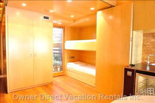 If you like Wide Spaces Leave it Opened. If you Want a Private Bedroom Move the Wooden Panels.