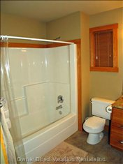 2nd Bathroom has a Tub/Shower Combo