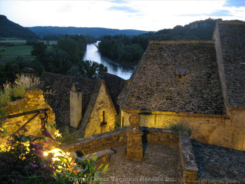 Twilight over the Rooftops of Beynac.