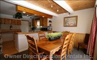 Dining Room Opens to Kitchen with Beautiful Mountain Views from all Main Living Areas!
