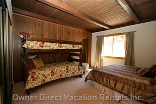 The Bunk Bed Room!  Great for Kids Or a Family of 4!