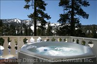 Relax in the Hot Tub Overlooking Bear Mountain Slopes and Mountains!