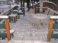 Deck with Fresh Snow