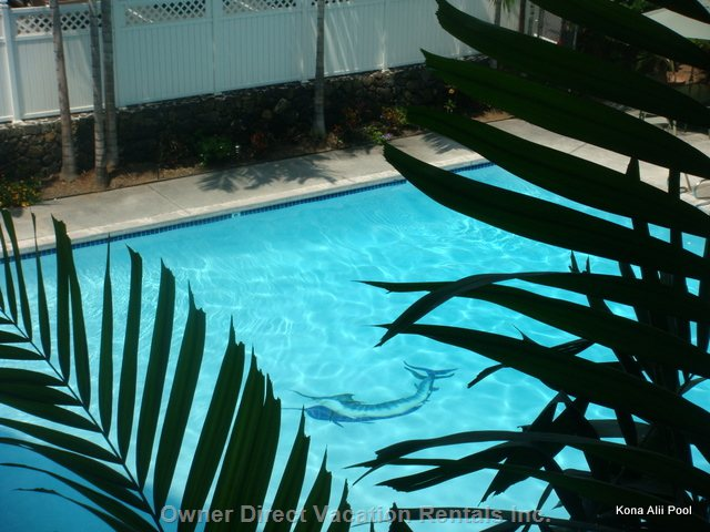 Large Heated Pool for Kona Alii Guests and Owners Only