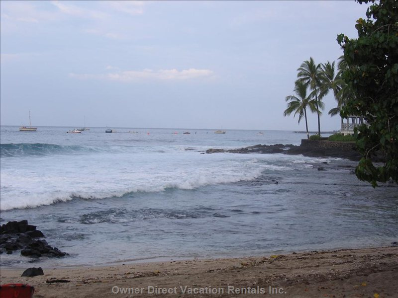 Small Beach across Kona Alii