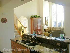 A Well-appointed Kitchen is Open to Living/Dining Area.