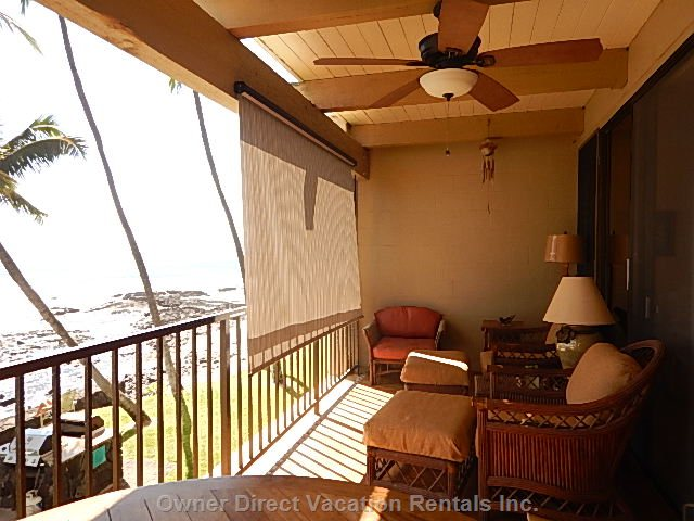 Comfortable Lanai with Deep Seating