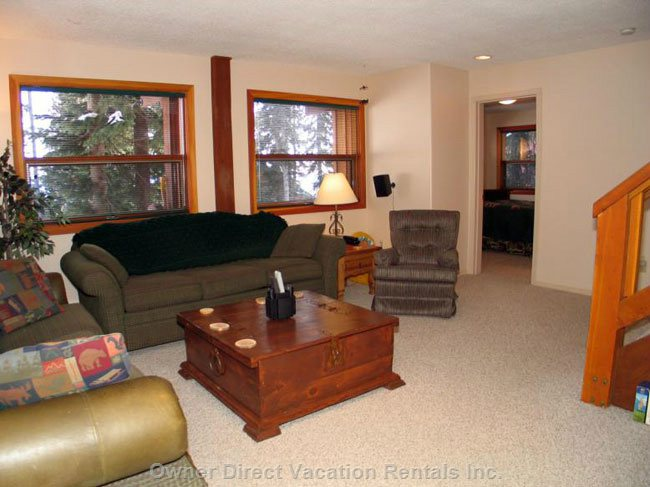 Family Room Creates 2 Living Areas
