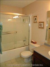 Downstairs Bathroom 2 has a Tub/Shower Combo