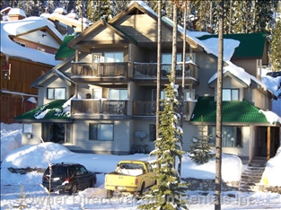 The Fourplex. Our Chalet is on the Lower Left Side. Ample Space for Parking.